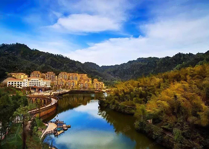 Parque forestal del castillo del cisne de Guizhou